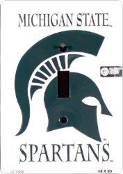Metal Michigan State MSU Spartans Light Switch Plate Cover
