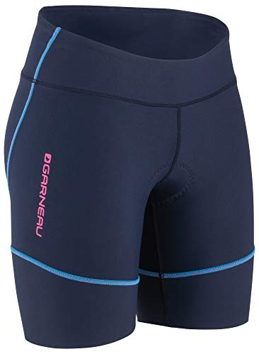 Louis Garneau Women's Tri Comp Triathlon Shorts, Navy/Blue/Pink, ()