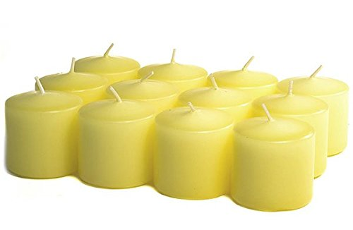 Pale Yellow Unscented Votive Candles 10 Hour