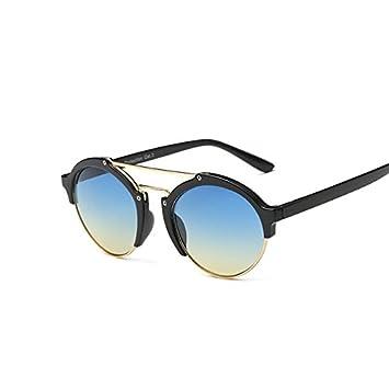 Tocoss (TM) Nouveaux Mode femmes Marque Designer fête ronde rétro Lunettes de soleil pour homme Lunettes de soleil pour femme Eyewear Shades Lunettes, Leopard DoubleBrown