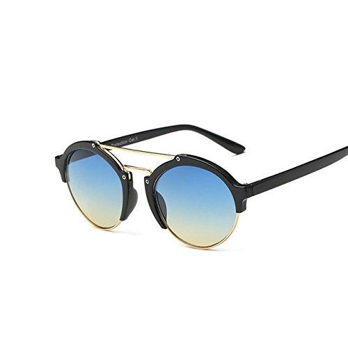 Nouveaux pour femmes Eyewear soleil Mode Black Lunettes soleil Marque de homme Designer fête Yellow Tocoss Lunettes TM Blue ronde pour Lunettes de rétro Shades femme TqtH55