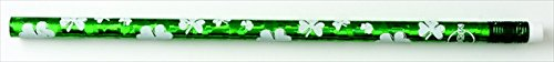 Moon Products 081004 Shamrock Glitz Award Pencil with Erasers44; Pack - 12 ()