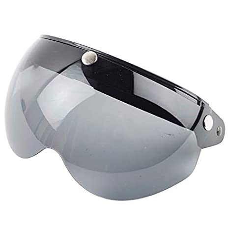 VCOROS 3 Snap 3//4 Helmet Shield with FLIP UP Hinge for TORC T50 Vintage Motorcycle Helmets Dark Smoke