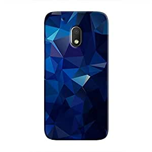 Cover It Up - Dark Blue Pixel Triangles Motorola Moto G4 Play Hard Case