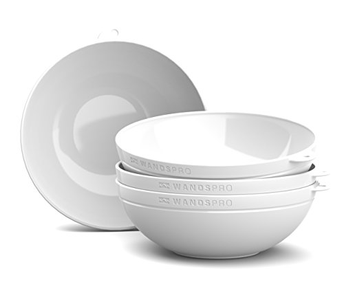 WandsPro - ClipCroc Bowl Set - Clip-Together Bowls (pack of 4)  Perfect for BBQs, Camping, Caravans and picnics (Ice White)