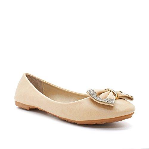 London Footwear Marina, Women's Ballet Flats Beige