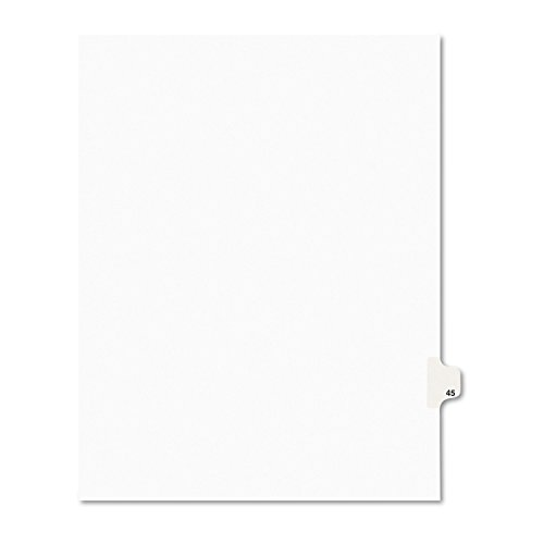 Avery Legal Dividers, Premium Individual Tab Titles, Letter Size, Side Tabs, 45, Pack of 25 - Letters Title
