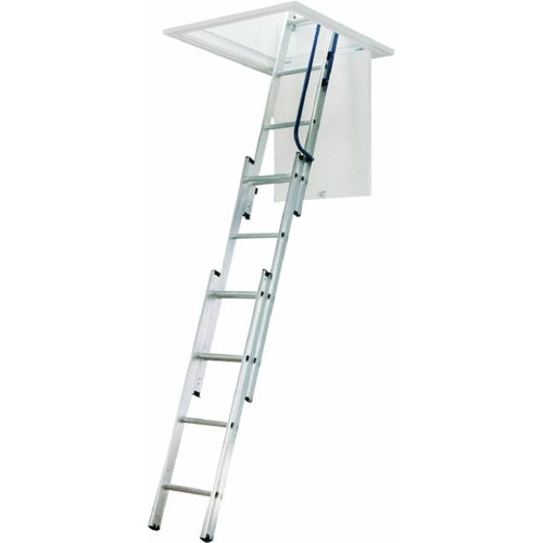 WERNER LADDER AA1510 Ladder Aluminum Attic, 250 Lb.