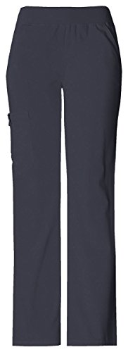Cherokee Women's Tall Flexibles Knit Waist Pull-On Pant_Pewter_Small Tall,2085T (Cherokee Pull)