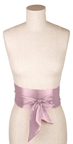 Charmeuse Silk Belt - L. Erickson USA Sash Belt - Silk Charmeuse Petal Pink
