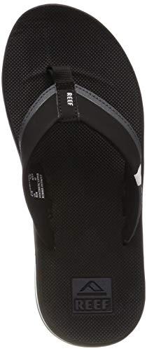 Reef Men's Fanning Low Thong Sandals (11 M US, Black/White)