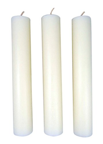 - Cathedral Brand 51% Beeswax Candles with Plain Ends, 1 1/2 Inch x 9 Inch, Box of 6