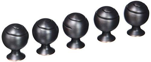 Amerock BP9338-ORB Oil Rubbed Bronze Swirl'z Spiral Ball Cabinet Hardware Knob, 1-1/8
