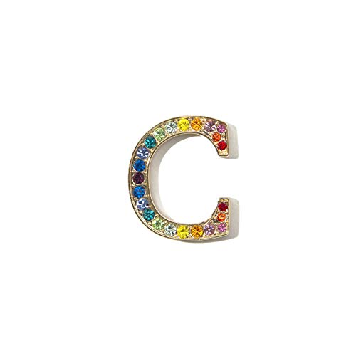 Sonix Crystal Embellished Metal Alphabet Letter Sticker - Rainbow (C)