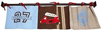 Engine 27 Window Valance by Nojo (Engine 27 Baby Crib Bedding By Nojo)