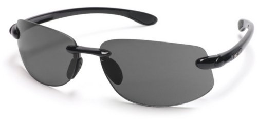 Smith Optics Excursion Sunglasses Eyewear 0000 Black/Gray Polarized - Custom Sunglasses Logo Bag