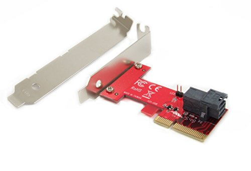 Ableconn PEXU2-131 PCI Express 3.0 x4 Host Adapter Card with SFF-8643 Mini-SAS HD 36Pin connector for U.2 (SFF-8639) PCIe-NVMe SSD - Support Intel 750 2.5-inch U.2 SFF SSD