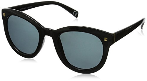 Foster Grant Women's Bria Pol Polarized Wayfarer Sunglasses, Black, 51.4 - Grant Polarized Foster Sunglasses Wayfarer