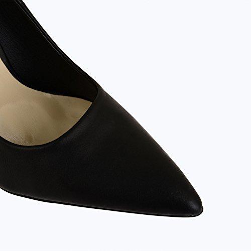 Tilly Shoes Patent punto de tacón Toe corsé stilettos Prom zapatos UK tamaños Negro - negro