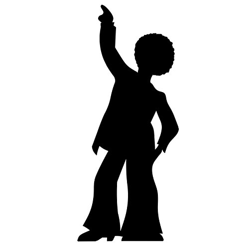 SC83 Disco Dancer - Male (Silhouette) Cardboard Cutout Standup (Disco Silhouettes)