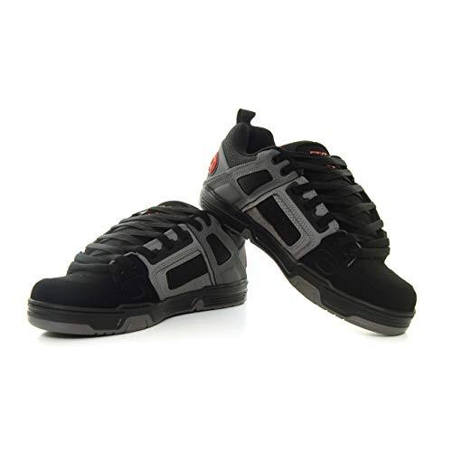 DVS Men's Comanche Skate Shoe, Black Charcoal RED Nubuck, 8.5 Medium US