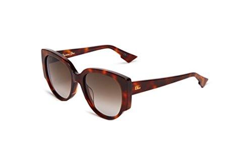 Christian Dior Night 1/S Sunglasses Havana / Brown - Butterfly Sunglasses Dior Christian