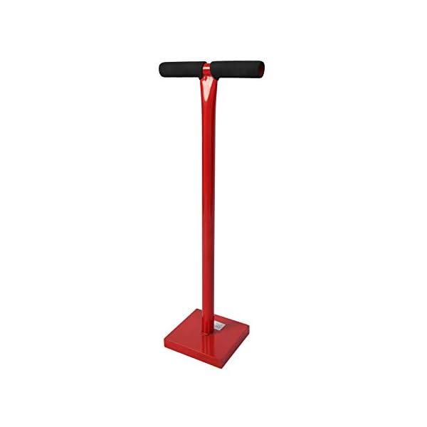 Wiltec-Costipatore-per-Terreni-115-kg-in-Acciaio-con-Piastra-di-Base-di-20x20cm-e-Impugnatura-a-T