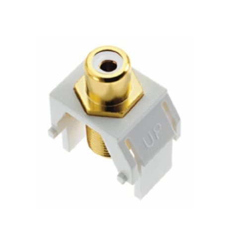 Legrand - On-Q WP3461WH Keystone RCA to FConnector, White