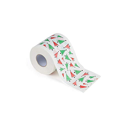 Fan-Ling Christmas Pattern Print Roll Paper, Interesting Toilet Paper Table Kitchen Paper Towel,1 roll 2 Layers,Christmas Supplies Xmas Decor Tissue Roll for Home, Cafe, Shop, Restaurant (J:2PCS) (Tables Metal Cafe)