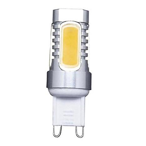 Pack 5 x Bombilla Led Bipin 220V casquillo G9 de 7,5W - Luz Fría 6000/6500k - 645 Lm - Led COB Epistar - CRI 80 en aluminio: Amazon.es: Iluminación