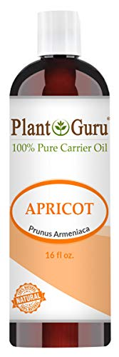 Apricot Kernel Oil 16 oz Cold Pressed 100% Pure Natural Carrier - Skin, Face, Body And Hair Growth Moisturizer. Great For DYI Cream, Lotions and Lip balm.