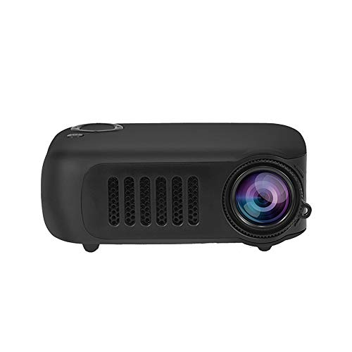 QianBaiHui Projector Mini Portable 800 Lumen Supports 1080P LCD 50,000 Hours Lamp Life Home Theater Video Projector Support Power Bank for TV Box U Disk,Black