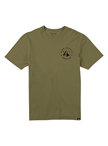 Burton Men's High Supply Short Sleeve T Shirt, Olive Drab, Small