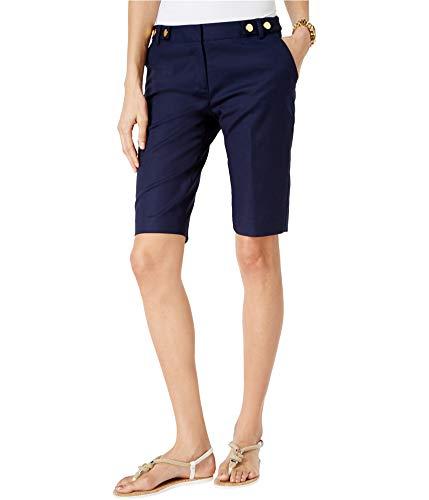 Michael Bermuda Kors (Michael Kors Womens Flat Front Casual Bermuda Shorts Blue 2)