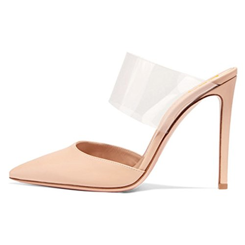 FSJ Women Strappy Stiletto High Heels Clear Sandals Pointed Toe Sexy Party Shoes Size 4-15 US Nude outlet newest discount with mastercard outlet 2015 new clearance genuine how much sale online 3YyavOGJh