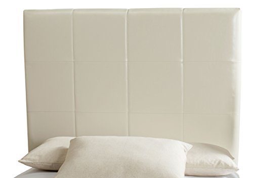 (Safavieh Mercer Collection Quincy White Bicast Leather Headboard, King)