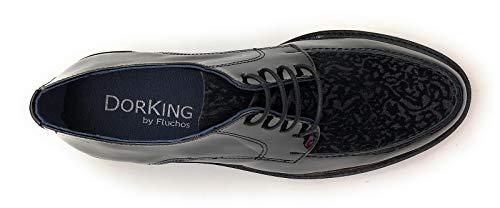 Dorking Amovible Semelle Chaussures derbies 6937 glfl Non Femme De Ville Noir BqBwSarTx
