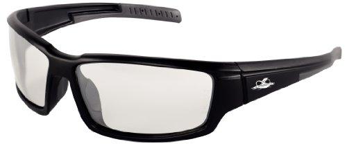 Bullhead Safety Eyewear BH1466AF Maki, Black Frame, Indoor/Outdoor Anti-Fog Lens, Gray TPR Nose/Temple (1 - Mako Eyewear