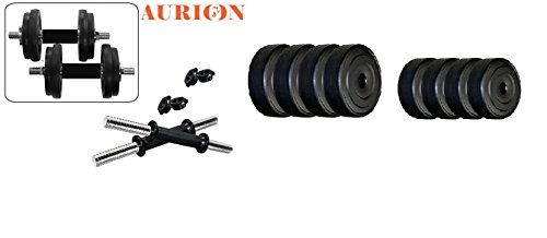 AURION PVC Combo Leather Home Gym and Fitness Kit 8 to 24 KG Price & Reviews