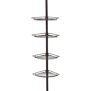 Zenna Home 2114HB, Tension Corner Pole Caddy, Oil Rubbed Bronze