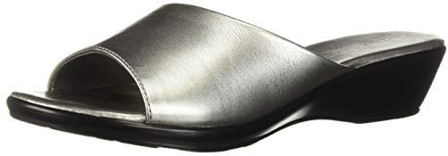 Athena Alexander Women's Calypso Wedge Sandal, Pewter, 6 M US