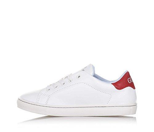 GUESS - Weißer Schuh aus Leder mit Schnürsenkeln, Synonym für Komfort und Stil, Jungen