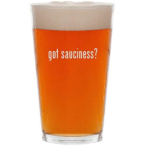got sauciness? - 16oz All Purpose Pint Beer Glass -