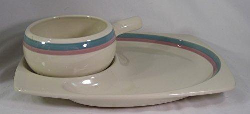 Pfaltzgraff Juniper Pattern Soup and Sandwich set