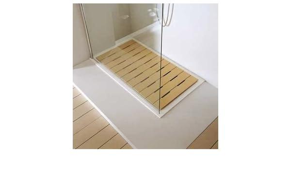 Caillebotis de madera para plato de ducha rectangular: Amazon.es: Bricolaje y herramientas