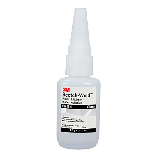 3M Scotch-Weld 25265 Plastic & Rubber Instant Adhesive PR Gel, 20 g Tube, 0.676 fl. oz. ()