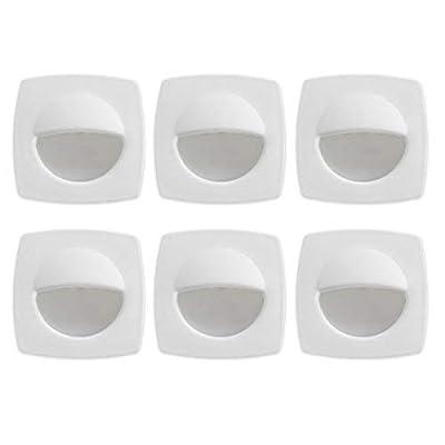 Dream Lighting 12 Volt Cool White LED Deck Lights for Boats Marine RV Motorhome White Shell Pack of 6: Garden & Outdoor