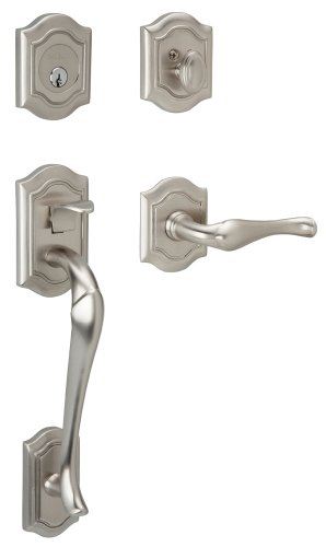 - Baldwin 85327.150.LENT Bethpage Sectional Trim Left Hand Handleset with Bethpage Lever, Satin Nickel