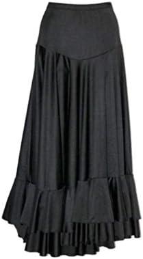 Falda negra con volantes para flamenco, Taille 6:107-124CM: Amazon ...