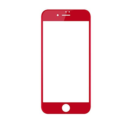 iPhone 7 Screen Protector , BASEUS 0.23mm PET Soft 3D tempered Glass Film 9H Scratch-resistant Cell Phone Screen Protector for iPhone 7 4.7'' (Red)